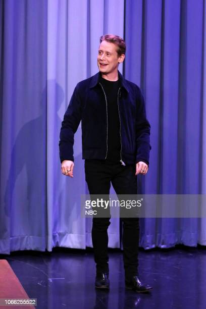 Episode 0970 -- Pictured: Actor Macaulay Culkin arrives to the show on November 28, 2018 --