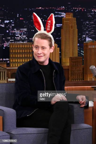 Episode 0970 -- Pictured: Actor Macaulay Culkin during an interview on November 28, 2018 --