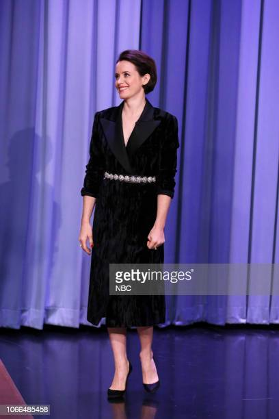 Episode 0971 -- Pictured: Actress Claire Foy arrives to the show on November 29, 2018 --