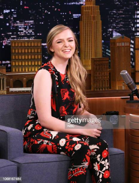 Actress Elsie Fisher during an interview on December 3 2018