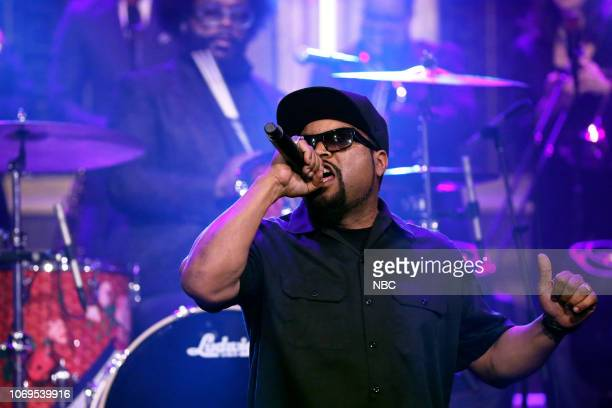 Musical guest Ice Cube performs on December 7 2018