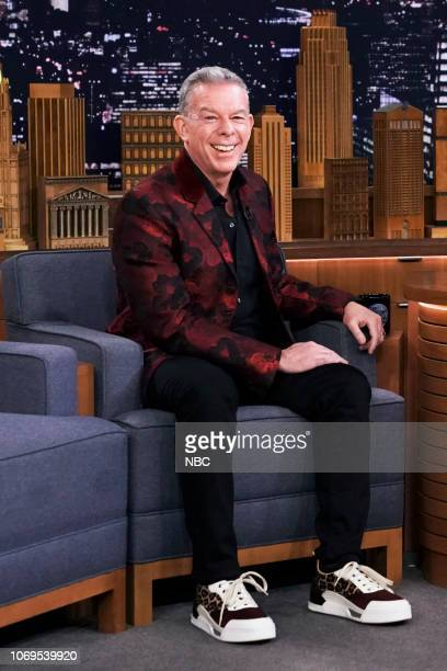 Radio Personality Elvis Duran during an interview with host Jimmy Fallon on December 7 2018