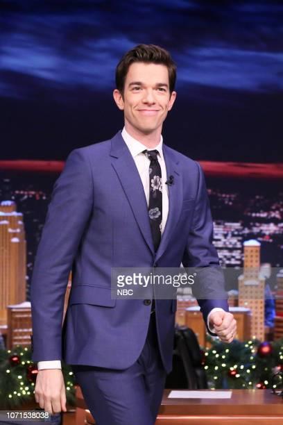 Comedian John Mulaney arrives to the show on December 10 2018