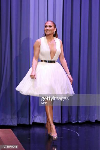 Actress Jennifer Lopez arrives to the show on December 11 2018