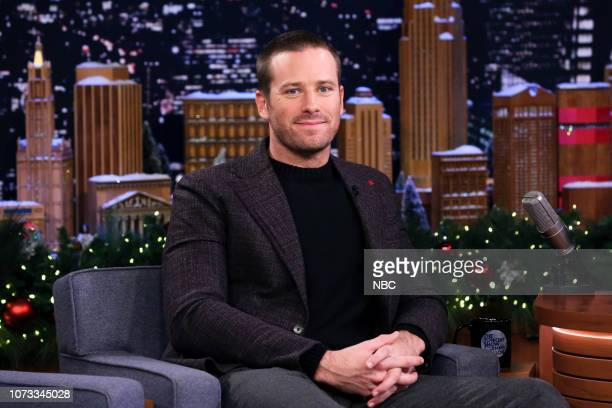 Actor Armie Hammer during an interview on December 14 2018