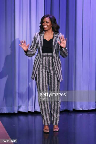 Michelle Obama arrives to the show on December 18 2018