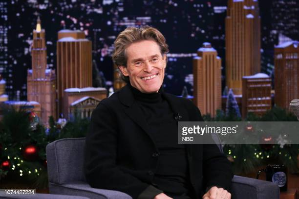 Actor Willem Dafoe during an interview on December 19 2018