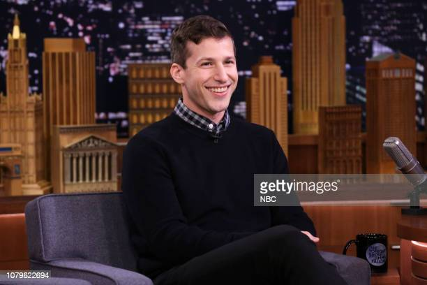 Episode 0989 -- Pictured: Comedian Andy Samberg during an interview on January 8, 2019 --