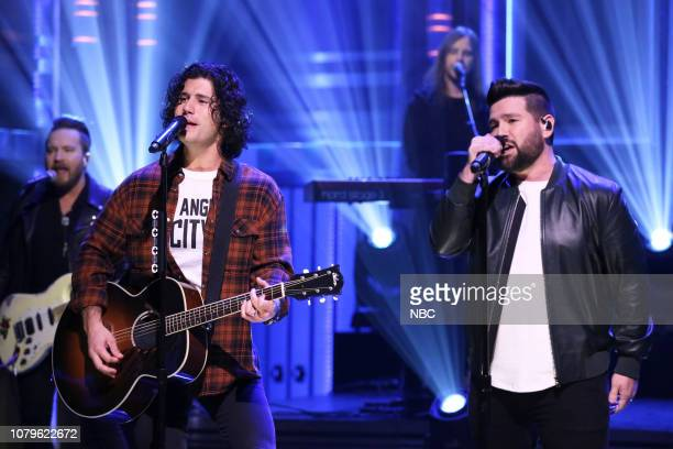 Musical guest Dan Shay performs on January 8 2019