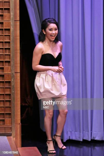 Actress Lana Condor arrives to the show on January 10 2019