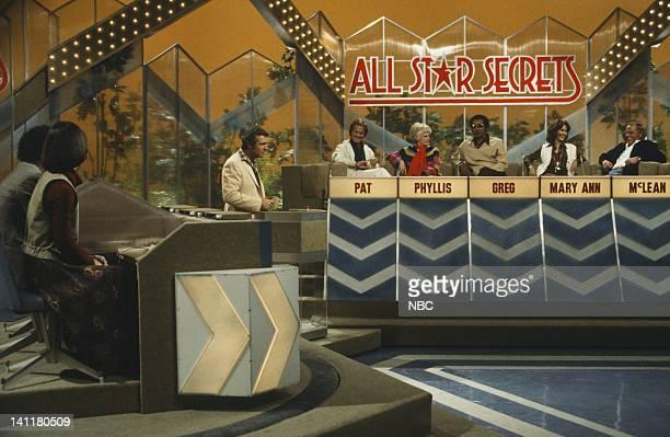 SECRETS Episode 1 Air Date Pictured lr contestants host Bob Eubanks All Star Panel Singer Pat Boone comedian Phyllis Diller Actor Greg Morris Former...