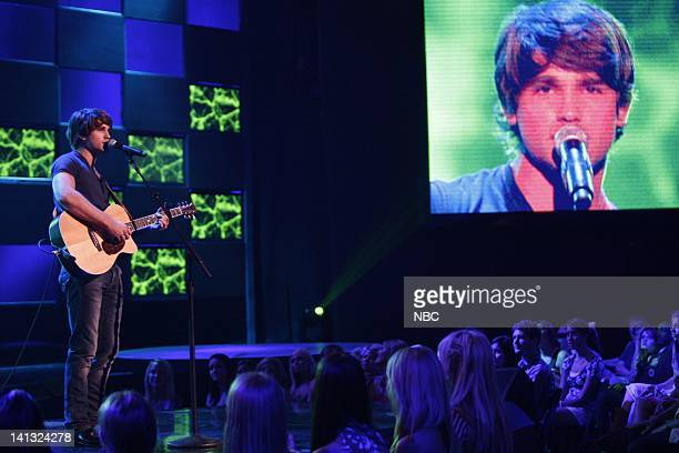 STAR Episode 1 Air Date Pictured Contestant Justin Gaston performs on June 2 2008 Photo by John Russell/NBCU Photo Bank