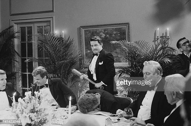 LIVE Episode 1 Air Date Pictured Phil Hartman as Ronald Reagan in the Robert Bork Clubbing Photo by Al Levine/NBCU Photo Bank
