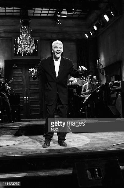 Episode 1 -- Air Date -- Pictured: Host Steve Martin during his monologue on October 17, 1987 -- Photo by: Al Levine/NBCU Photo Bank