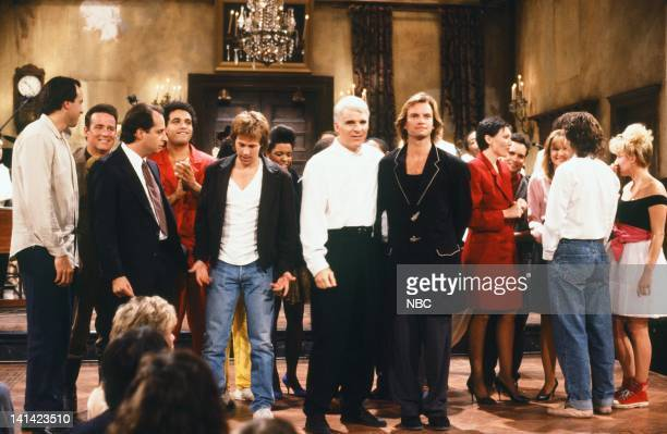 LIVE Episode 1 Air Date Pictured Kevin Nealon Phil Hartman Dana Carvy Steve Martin Sting Nora Dunn on October 17 1987 Photo by Al Levine/NBCU Photo...