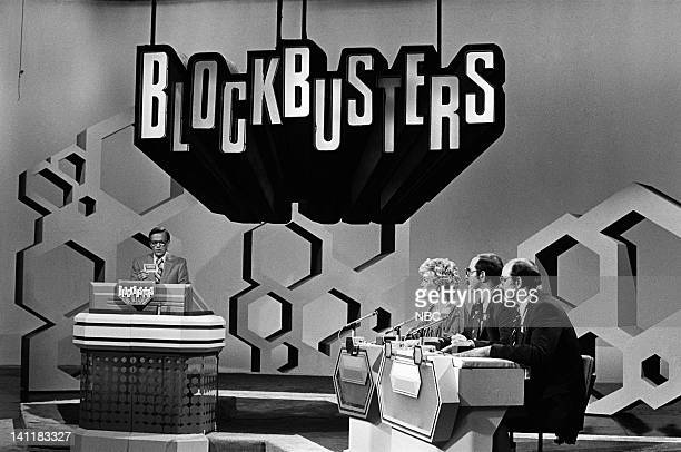 BLOCKBUSTERS Episode 1 Air Date Pictured Host Bill Cullen contestant Joanne contestant Tom contestant Joe Photo by Frank Carroll/NBCU Photo Bank