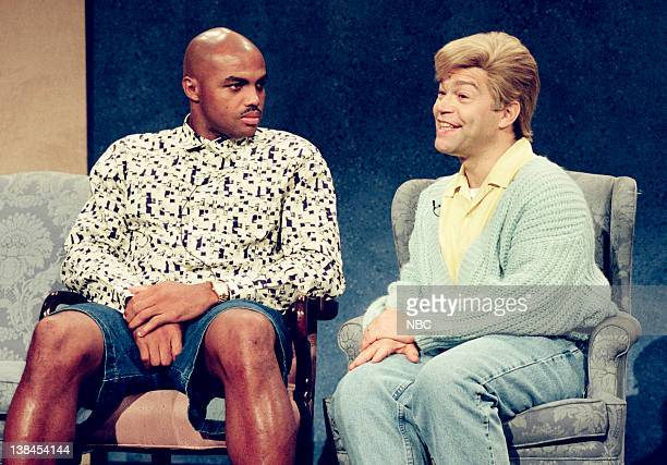 LIVE Episode 1 Aired Pictured Charles Barkley as himself and Al Franken as Stuart Smalley during the Daily Affirmation skit on September 25 1993