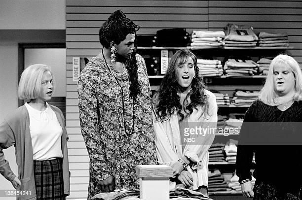 LIVE Episode 1 Aired Pictured David Spade as Christy Henderson Charles Barkley as Akela Adam Sandler as Lucy Brawn and Chris Farley as Cindy Crawford...