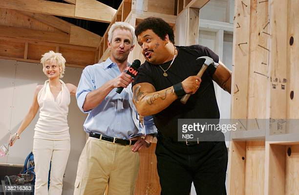 LIVE Episode 1 Aired Pictured Amy Poehler as Sharon Stone Seth Meyers as Anderson Cooper Horatio Sanz as Aaron Neville during 'Anderson Cooper 360'...