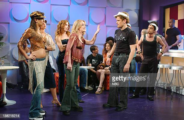 LIVE Episode 1 Aired Pictured Maya Rudolph as Caitlin Amy Poehler as Britney Spears Matt Damon as Justin Timberlake Chris Kattan as friend during...