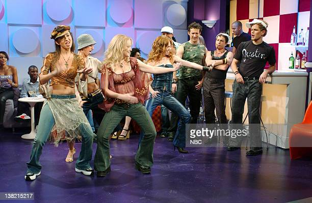 LIVE Episode 1 Aired Pictured Maya Rudolph as Caitlin Amy Poehler as Britney Spears Chris Kattan as friend Matt Damon as Justin Timberlake during...