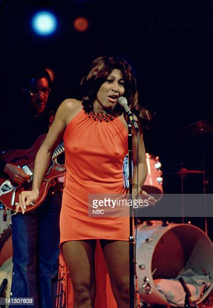 "Episode 1 -- Aired 2/2/73 -- Pictured: Tina Turner Revue sing ""I Can't Turn You Loose"" and ""With a Little Help from My Friends"" -- Photo by: NBCU..."
