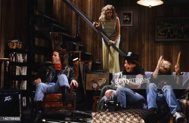 Bruce Willis as Rick Nora Dunn as Mrs Campbell Mike Myers as Wayne Campbell Dana Carvey as Garth Algar during the 'Wayne's World' skit on September...