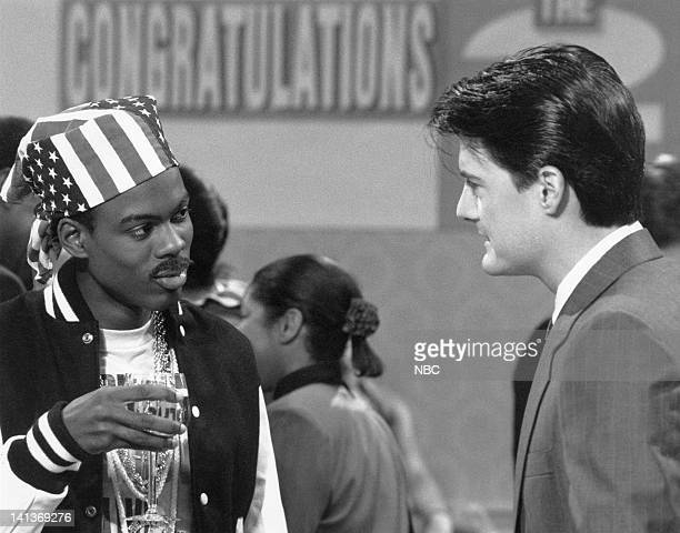 Chris Rock as Luther Campbell Kyle Maclachlan as coalition member during '2 Live Crew Party' skit on September 29 1990 Photo by Alan Singer/NBCU...