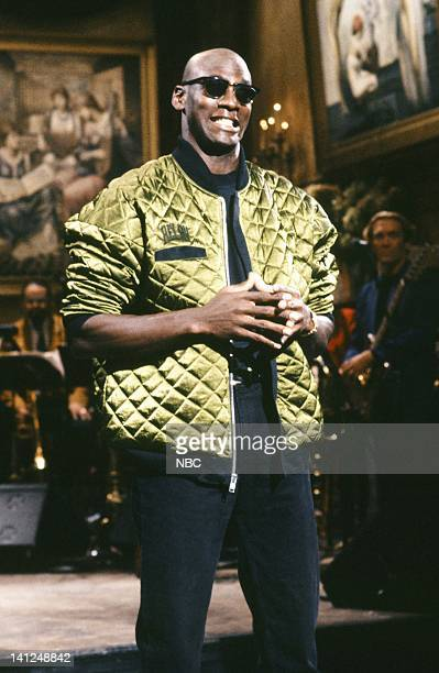 Host Michael Jordan during the monologue on September 28 1991 Photo by Raymond Bonar/NBCU Photo Bank