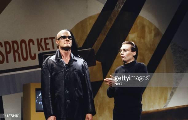 Kyle MacLachlan as KarlHeinz Shelkar Mike Myers as Dieter during skit on September 29 1990 Photo by Alan Singer/NBCU Photo Bank