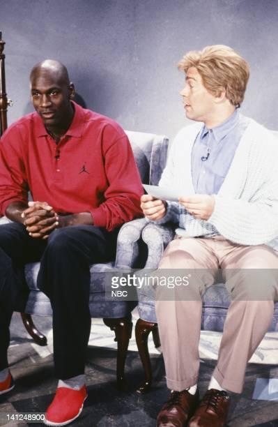 Michael Jordan Al Franken as Stuart Smalley during the 'Daily Affirmation' skit on September 28 1991 Photo by Raymond Bonar/NBCU Photo Bank