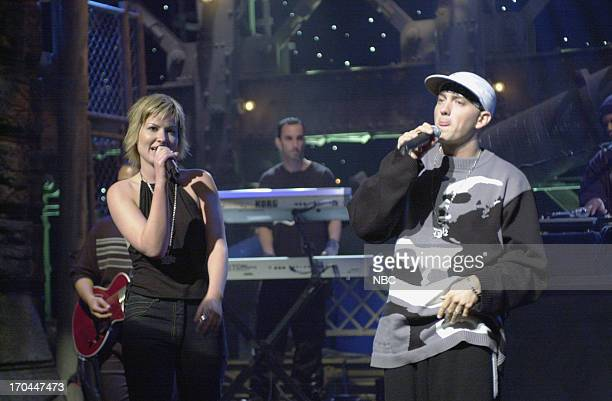 Musical guest Dido performs with Eminem on October 7 2000