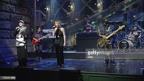 Musical guest Eminem performs with dido on October 7 2000