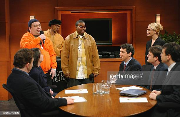 Episode 10 -- Air Date -- Pictured: Horatio Sanz as Bubba Sparxxx, Finesse Mitchell as D.J. Bonbons, Kenan Thompson as Timbaland, Chris Parnell as...