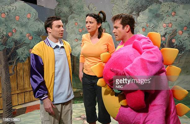 LIVE Episode 10 Aired Pictured Jimmy Fallon as Ronnie Van Peebles Rachel Dratch as Maria Ray Liotta as Dave during The Fun Friend Club skit