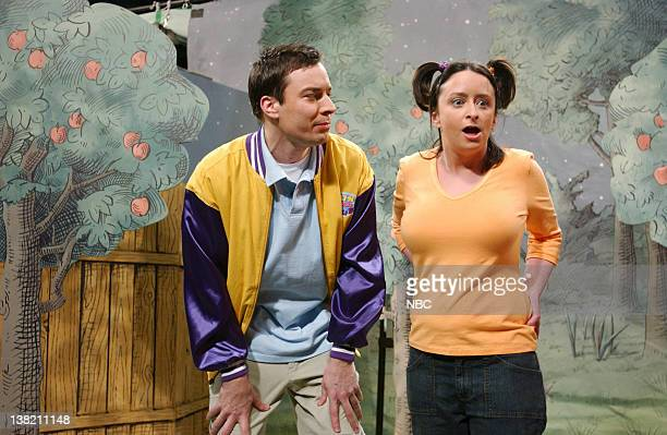 LIVE Episode 10 Aired Pictured Jimmy Fallon as Ronnie Van Peebles Rachel Dratch as Maria during The Fun Friend Club skit