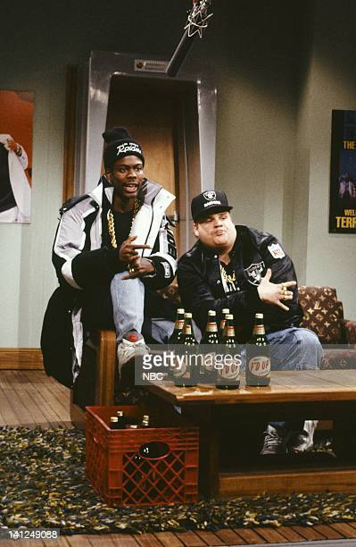 Episode 10 -- Pictured: Chris Rock as Onski, Chris Farley as B Fatsduring the 'I'm Chillin' skit on January 12, 1991-- Photo by: Raymond Bonar/NBCU...