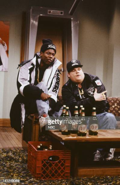 Chris Rock as Onski Chris Farley as B Fatsduring the 'I'm Chillin' skit on January 12 1991 Photo by Raymond Bonar/NBCU Photo Bank