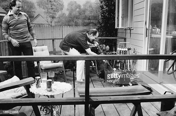 Jon Lovitz as Jack John Malkovich as guest during the 'California Condor' skit on February 21 1989