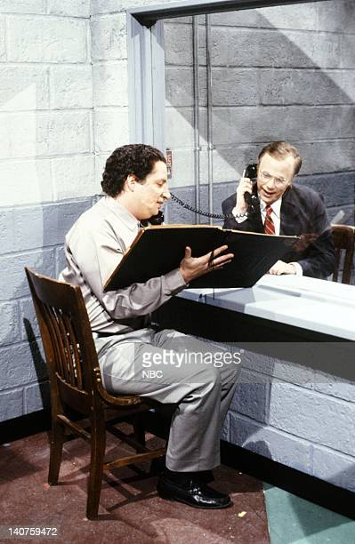 Jon Lovitz as Manuel Noriega Dana Carvey as President George H W Bush during the 'Noriega's Plan' skit on January 13 1990 Photo by NBC/NBCU Photo Bank