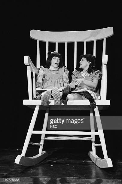 Lily Tomlin as Edith Ann Julia LouisDreyfus as Darlene during the 'Edit Ann Friends' skit on January 22 1983 Photo by Fred Hermansky/NBC/NBCU Photo...