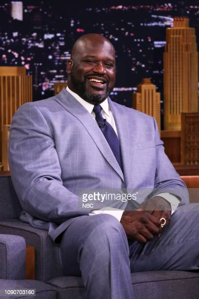 Basketball player Shaquille O'Neal during an interview on January 28 2019