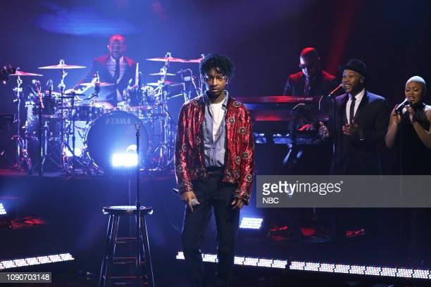 Musical guest 21 Savage performs on January 28 2019