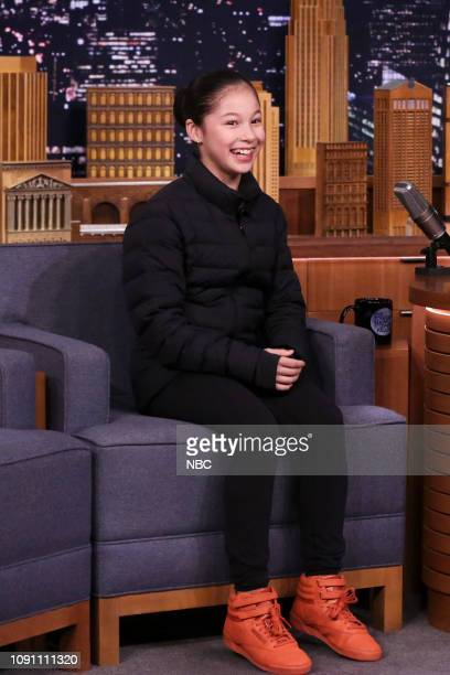 Figure skater Alysa Liu arrives to the show on January 29 2019