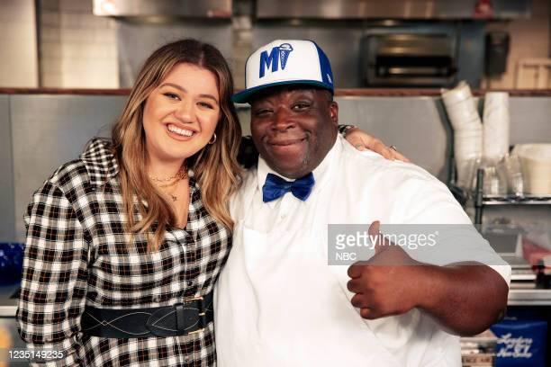 Episode 1004 -- Pictured: Kelly Clarkson, Mikey Cole --