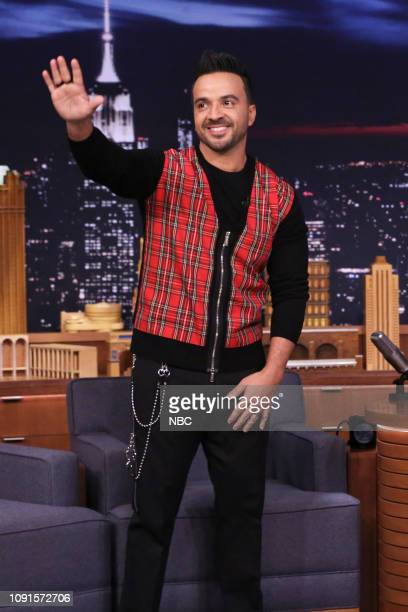 Singer Luis Fonsi arrives to the show on January 30 2019