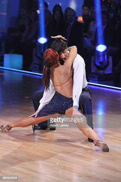 STARS 'Episode 1005' This week on 'Dancing with the Stars' it was movie night with eight remaining couple doing the Jive Quickstep Cha Cha Cha Tango...