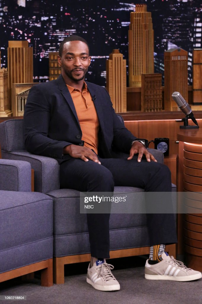 "NY: NBC's ""Tonight Show Starring Jimmy Fallon"" With Guests Anthony Mackie, Tim Gunn Matthew Broussard"