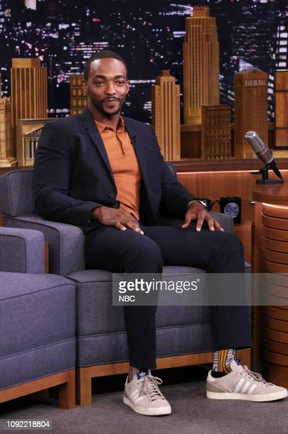 Actor Anthony Mackie during an interview on February 1 2019
