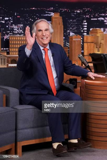 Episode 1009 -- Pictured: Actor Henry Winkler arrives to the show on February 5, 2019 --